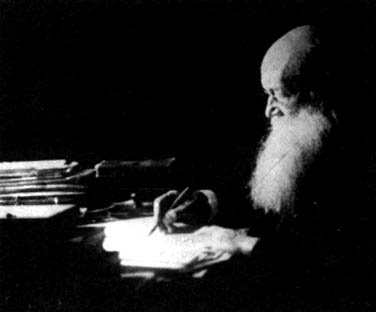 Petrov Kropotkin at his desk.